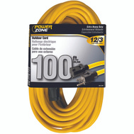 Power Zone OR500835 Cord Ext Outdr 12/3x100ft Yel