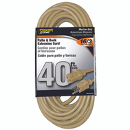 Power Zone OR884628 Cord Ext Outdoor 16/3 40Ft Bge