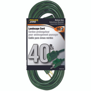 Power Zone OR880628 Outdoor Extension Cord 16/3 40 Foot Green