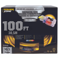 Power Zone ORP511935 Cord Ext 10/3sjtow X 100ft Yel