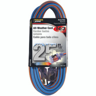 Power Zone ORC530725 Cord Ext 14/3X25ft Blu/Org Stp