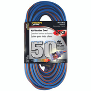 Power Zone ORC530730 Cord Ext 14/3X50ft Blu/Org Stp