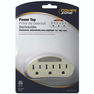 Power Zone ORADL101 Tap 3 Outlet Photo Nightlt Wht