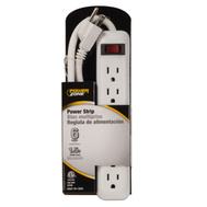 Power Zone OR801118 6 Outlet Power Strip With 18 Inch Cord White