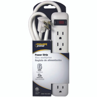 Power Zone OR801124 Strip 6Out Cirbrkr 3Ft Crd Wht
