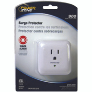 Power Zone OR802105 Tap Surge/Alarm 1Out 900J Wht