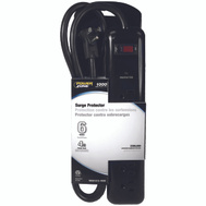 Power Zone OR802225 Strip Surge 6Out 1000J 4Ft Blk