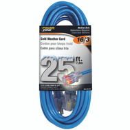 Power Zone ORCW511625 Cord Ext Otdr Rd Cld 16/3X25ft