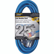 Power Zone ORCW511825 Cord Ext Cold Lt 12/3X25ft Blu