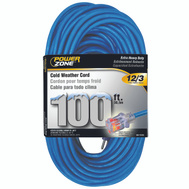Power Zone ORCW511835 Cord Ext Otdr Cold 12/3x100ft