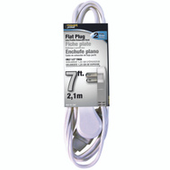 Power Zone OR920607 Cord Ext Indr 3Out16/2X7ft Wht