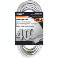 Power Zone OR883628 Ext Cord 16/3 Sjtw 40 Foot White