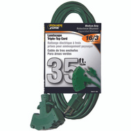Power Zone OR605627 Cord 16/3 Sjtw 35 Foot Ground Triple Tap