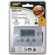 Power Zone TNID7111 1 Outlet 7 Day 4 Program Indoor Digital Timer