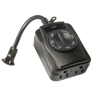 Power Zone TNOCD002 2 Outlet Outdoor Photocell Timer