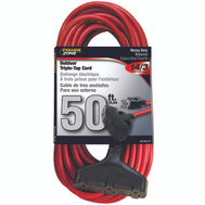 Power Zone OR614730/606730 Cord Ext 3Tap14/3X50ft Red