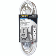 Power Zone OR890609 Cord Ext White 3Out 9Ft Office