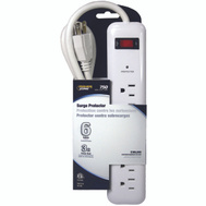 Power Zone OR802124 Surge Protector 6 Out Let 750 Joules 3 Foot White