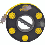 Power Zone ORCR2002 Reel Cord Storage Plastic Blk