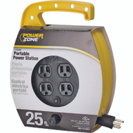 Power Zone ORCR220625 Quad Plug Cord Reel