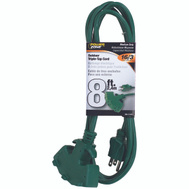 Power Zone ORY605608 8 Foot Outdoor Extension Cord 3 Outlet 16/3 Green