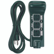 Power Zone ORCDTSTK6 Outdoor Timer 6 Outlet Touch Sensor And Ground Stake Green