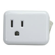 Power Zone ORES001 Tap Cube 1-Outlet W/On-Off Sw