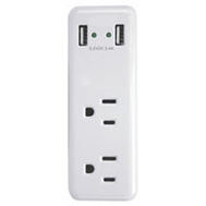 Power Zone ORUSB242 Charger Usb 2-Port2.4A 2Outlet