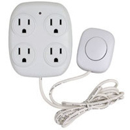 Power Zone ORFSTAP Tap Indoor 4-Outlet W/Remote