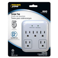 Power Zone OR802155 Tap Surge 5-Out 900J Wht/Gray