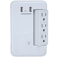 Power Zone ORRUSB346S Charge Usb 6-Out 1200J 2P 3.4A