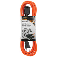 Power Zone OR481608 Cord Ext Otd Org Sjtw 16/2 8Ft