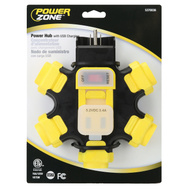 Power Zone ORPBPHU345 Power Hub Outdoor 2-Usb 5.2Volts DC 5-Outlet 3.4 Amps