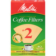 Melitta 612412 Filter Coffee Cone No2 Nb 40Ct (Box Of 40)