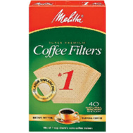 Melitta 620122 40 Pack #1 Brown Cone Filter