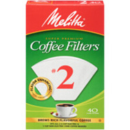Melitta 622702 Filter Coffee Cone No2 Wh 40Ct (Box Of 40)