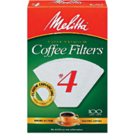 Melitta 624102 100 Pack #4 Cone Filter
