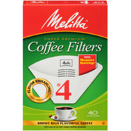 Melitta 624402 Filter Coffee Cone No4 Wh 40Ct (Box Of 40)