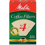 Melitta 624602 100 Count #4 Brown Cone Coffee Filter