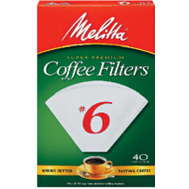 Melitta 626402 40 Ct #6 White Cone Filter