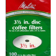 Melitta 628354 100 Pack Disc Coffeefilter