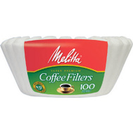 Melitta 629552 100 Ct White Basket Filter