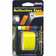 INCOM RE181 Lifesafe Lime Reflective Tape 1 Inch By 24 Inch Roll