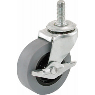 Richelieu America Ltd F24723 Threaded Stem TPR Caster With Brake 2 Inch 80 Lb Load Capacity
