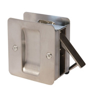 Weiser by Kwikset W1030 26D V Passage Notched Pocket Door Pull Satin Chrome