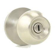 Kwikset SK3000RG 26D RCAL RCS Safe Lock Regina Bed And Bath Privacy Lockset Satin Chrome