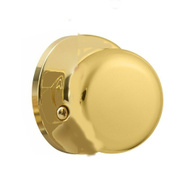 Weiser by Kwikset SK7000AS 3 Safe Lock Athens Half Dummy Knob Pill Polished Brass