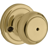 Weiser by Kwikset GA101 HT3 MS 4LS1 Cameron Bed And Bath Privacy Lockset Troy Polished Brass