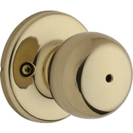 Weiser by Kwikset GAC331 F3 MS CT 4LS1 Fairfax Bed And Bath Privacy Lockset Polished Brass