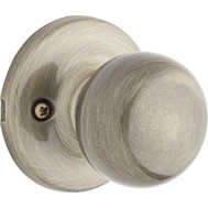 Weiser by Kwikset GAC12 F5 MS Fairfax Half Dummy Knob Pull Antique Brass